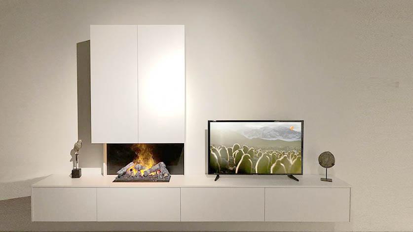 elektrische haard tv meubel