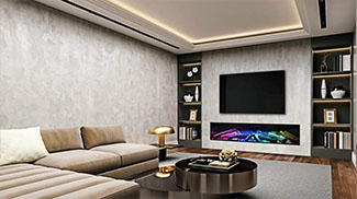 tv kast met ingebouwde sfeerhaard