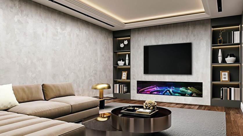 tv meubel elektrische haard