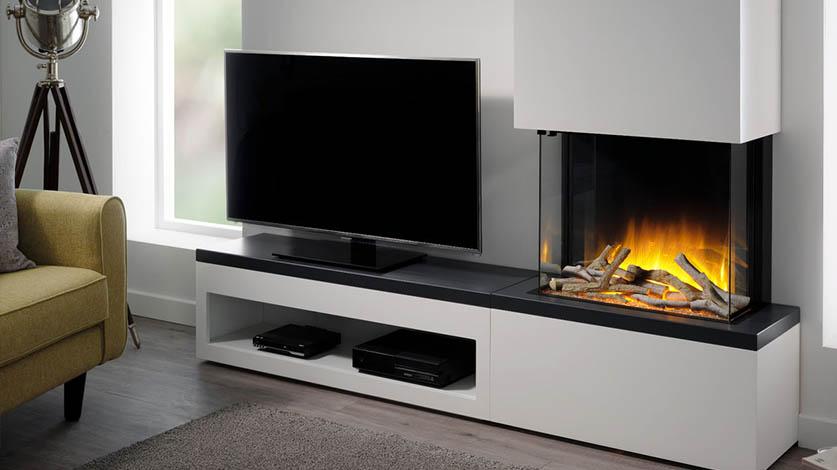 tv meubel met elektrische haard